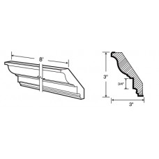 CCROWN8-York Classic Crown Molding - TufBuilt Ready to Assemble Kitchen Cabinet Accessories