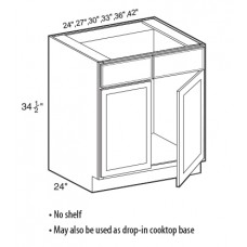 SB24-Shaker Espresso Sink Base Cabinet - TufBuilt Ready to Assemble Kitchen Cabinet