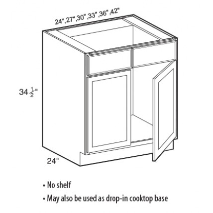 SB24-White Shaker Sink Base Cabinet - TufBuilt Ready to Assemble Kitchen Cabinet