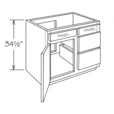 VCD36-York Vanity Drawer Base Cabinet - TufBuilt Ready to Assemble Kitchen Cabinet